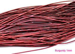 smooth purl french wire 1mm burgundy