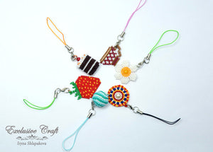 cell phone charm handcrafted