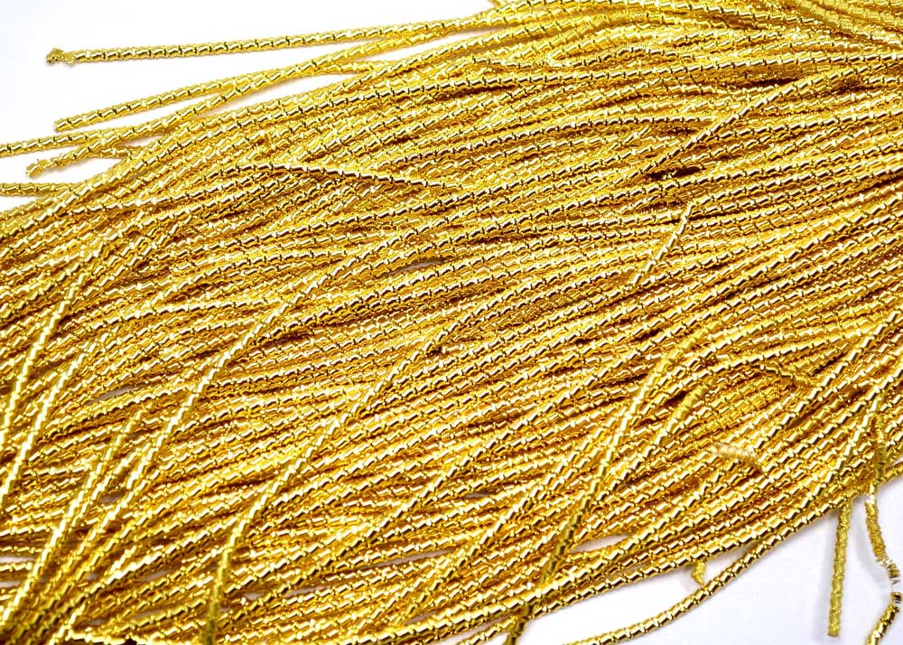 bamboo french bullion wire for embroidery dark gold