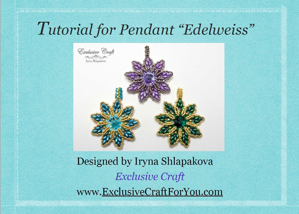 unique bead embroidery tutorial for swarovski edelweiss christmas ornament