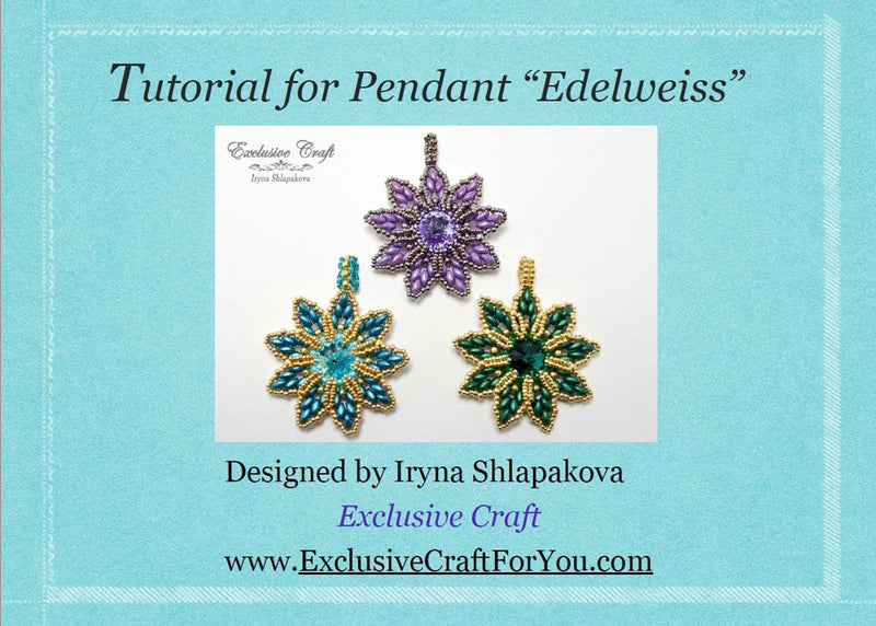 unique bead embroidery tutorial for swarovski edelweiss pendant