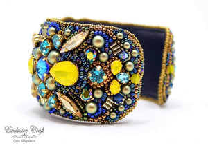exclusive craft jewelry beaded cuff bracelet