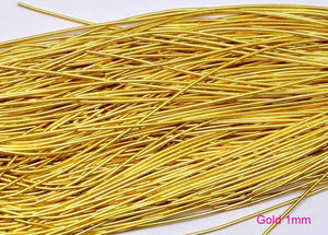 smooth purl french wire 1mm gold