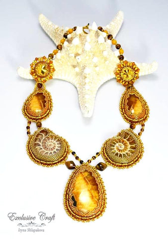 "Necklace ""Golden Goddess"""