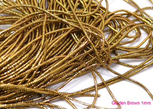 golden brown bullion french wire 1mm