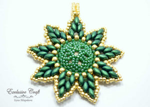 green gold swarovski christmas ornament and pendant