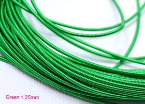 gimp french wire 1.25mm green