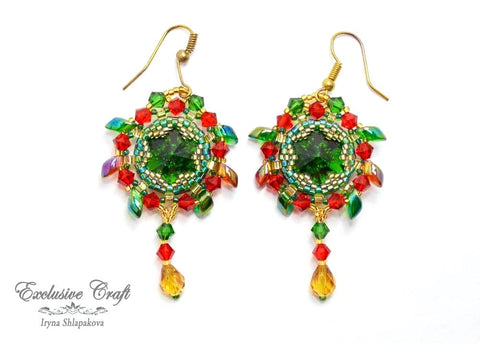"Earrings ""Firebird"""