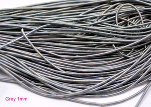 smooth purl french wire 1mm grey