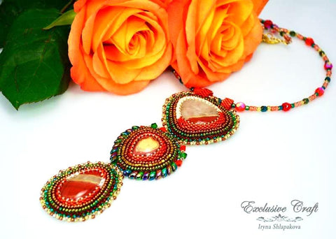 "Necklace ""Firebird"""