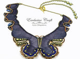 back leather of butterfly beaded necklace