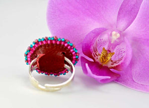 exclusive craft jewelry beaded ring