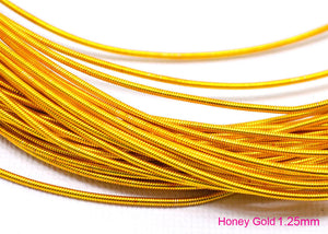 gimp french wire 1.25mm honey gold