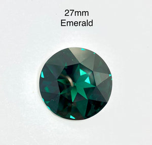 swarovski 27mm emerald green foiled