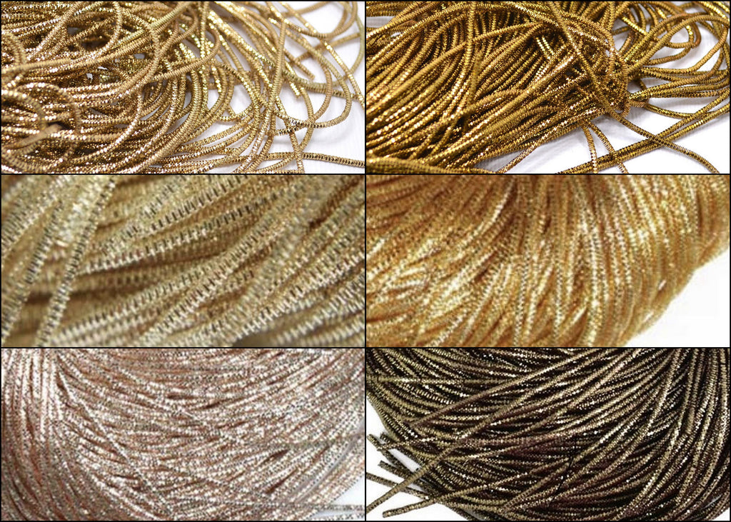 bullion french wire golden colors