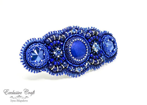"Hair barrette ""Deep Ocean"""