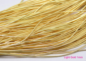smooth purl french wire 1mm light gold