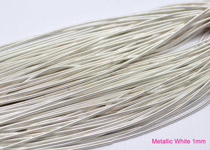 smooth purl french wire 1mm metallic white