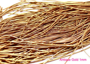 smooth purl french wire 1mm antique gold