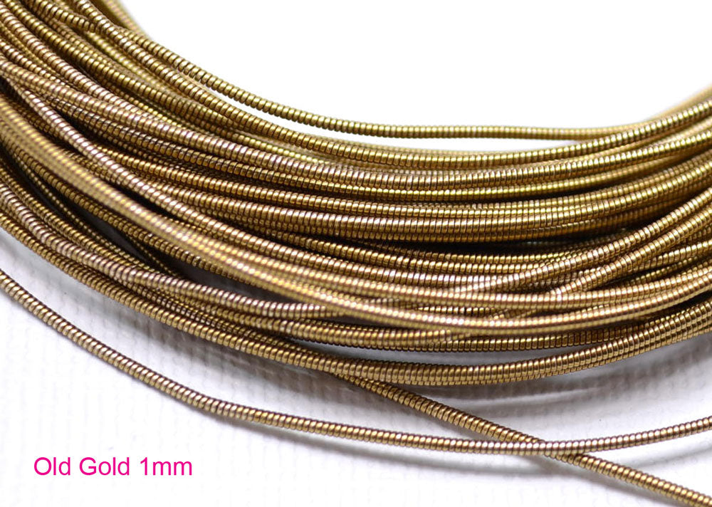 gimp french wire 1mm old gold