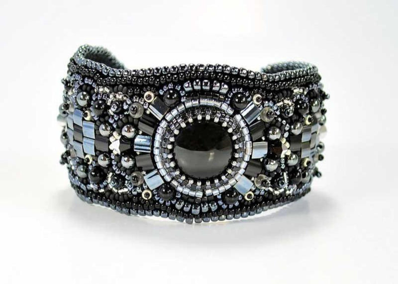 black beaded accessories