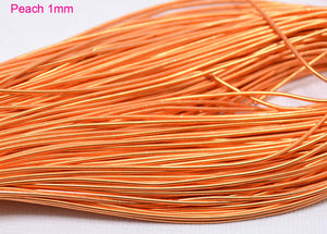 smooth purl french wire 1mm peach