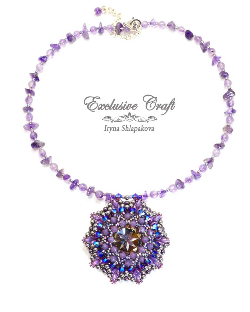 handmade artisan jewelry beaded necklace unique amethyst