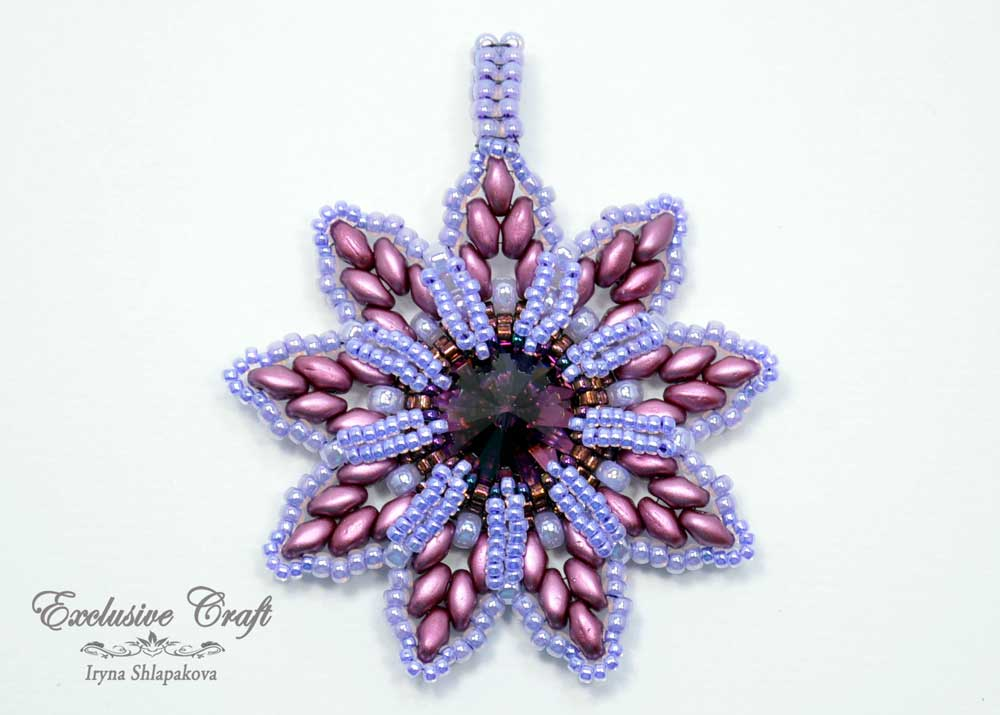 purple swarovski christmas ornament