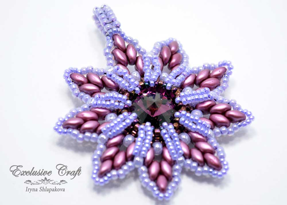 purple beaded swarovski christmas ornament