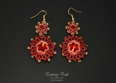 "Earrings ""On Fire"""