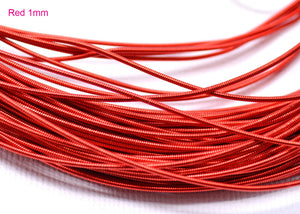 gimp french wire 1mm red
