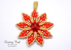 christmas ornament beaded