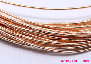 gimp french wire 1.25mm rose gold