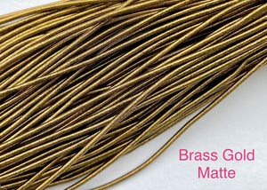 smooth matte purl french wire 1mm brass gold