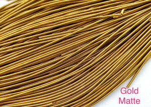 smooth matte purl french wire 1mm gold matte