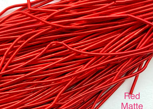 smooth matte purl french wire 1mm red