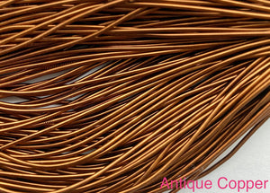 smooth purl french wire 1mm antique copper