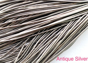 smooth purl french wire 1mm antique silver