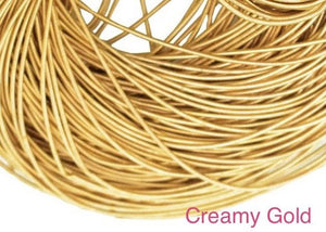 smooth purl french wire 1mm creamy gold