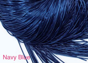 smooth purl french wire 1mm navy blue