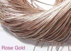 smooth purl french wire 1mm rose gold