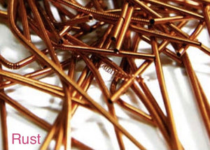 smooth purl french wire 1mm rust