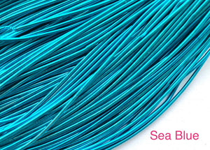 smooth purl french wire 1mm sea blue