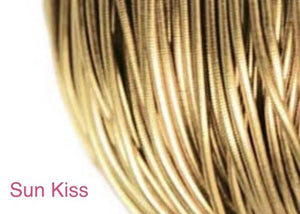 smooth purl french wire 1mm sun kiss
