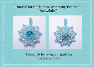 beading tutorial pattern snowflake christmas ornament