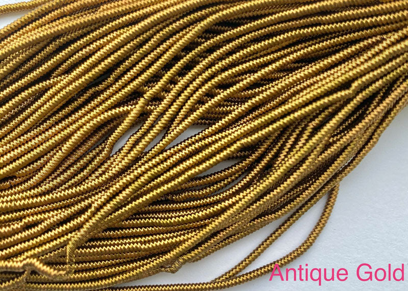 spiral smooth french wire antique gold