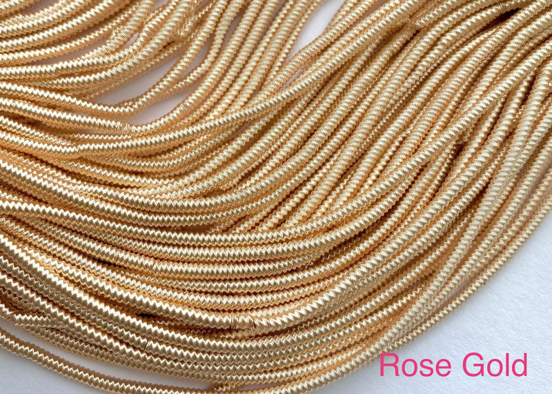 spiral smooth french wire rose gold