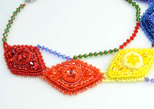 all colors beaded necklace