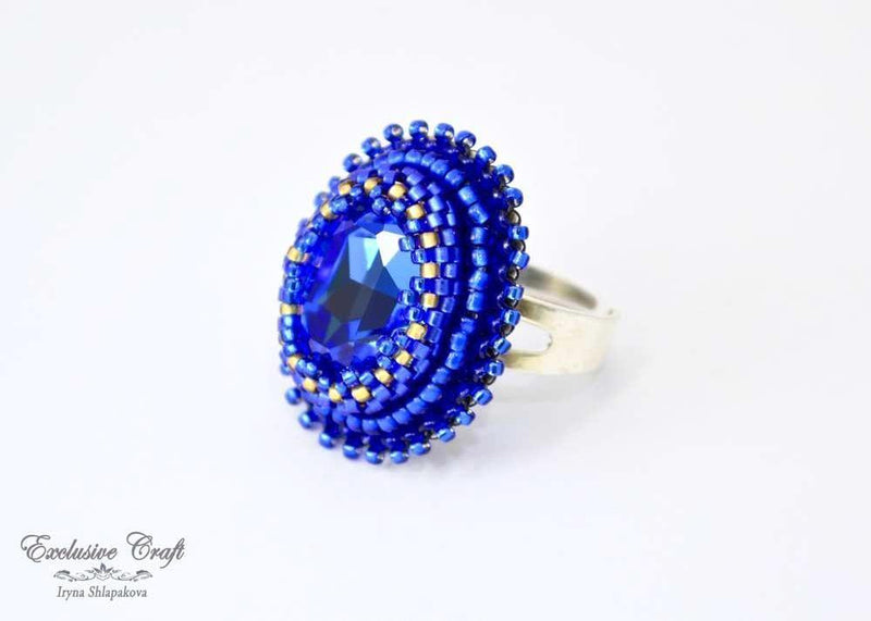 unique handmade beaded ring