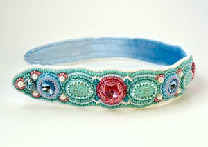 bead embroidered headband